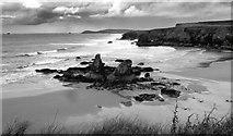 SW8572 : Porthcothan Beach by neil hanson