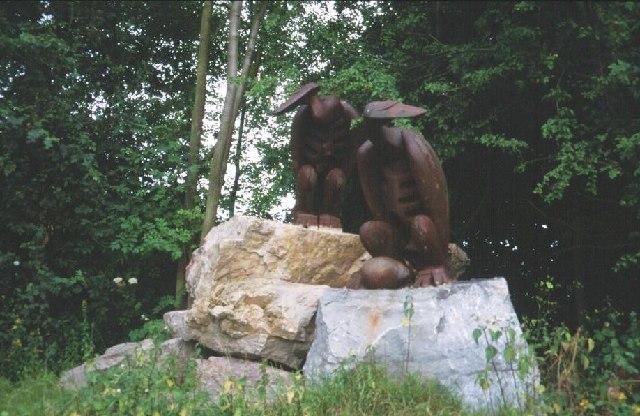 Rock Drill sculpture.