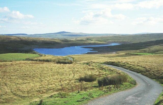 Mountain road on the Denbigh Moors.