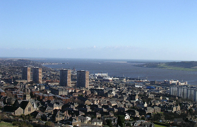 Tay estuary from Dundee Law