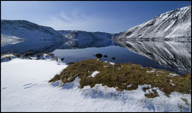 Winter Reflections of Loch Muick