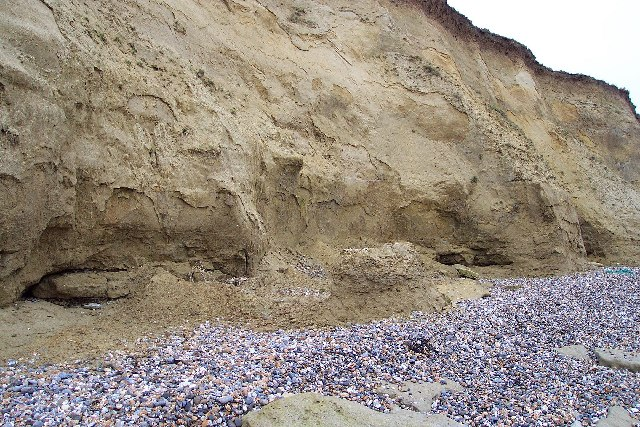 The eroding cliffs of Reculver Country Park