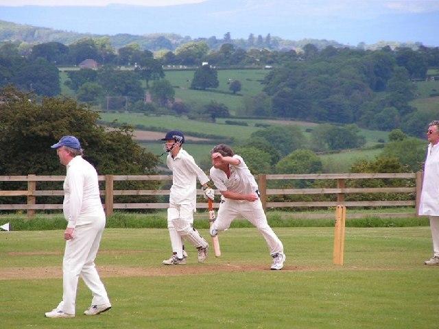 Saturday afternoon cricket at Burnt Yates