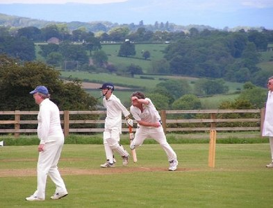 SE2561 : Saturday afternoon cricket at Burnt Yates by Sue Jackson