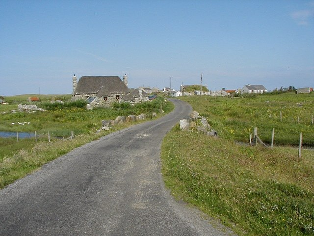 Restored blackhouse at Howmore, South Uist