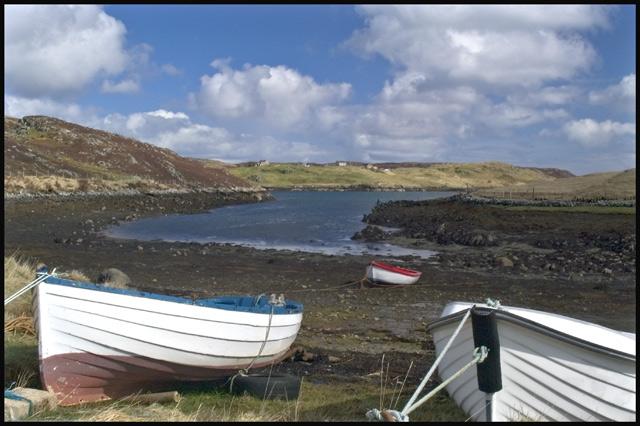 Boats at Loch Griomsiadair