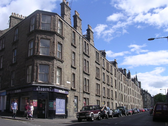 19th century tenements in inner city Dundee
