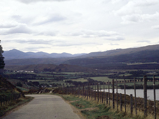 The view looking west from Borlum Hill