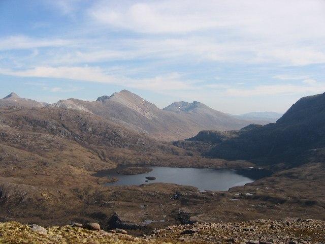 Loch an Eion and the south ridge of Beinn na h-Eaglaise