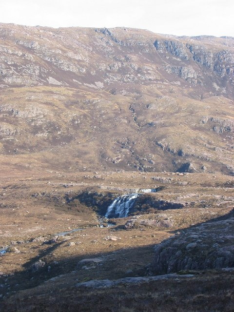 Waterfall below Beinn na h-Eaglaise.