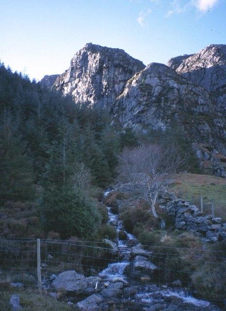 View towards Castell Cidwm