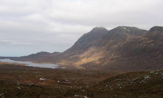Flowerdale: view to  Loch a'Bhealach