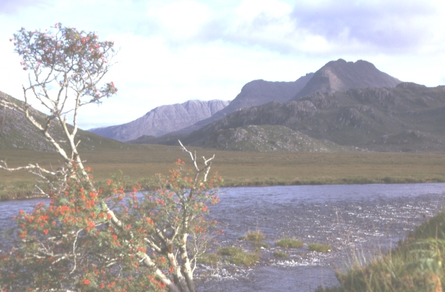 Beinn Dearg and Cairn Goraig from the Gruinard River