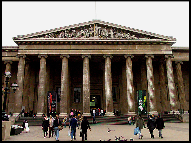 The Entrance to the British Museum