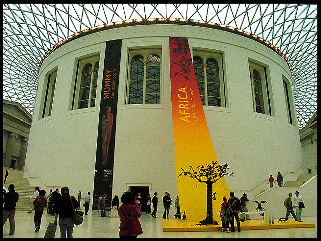 British Museum Reading Room and Special Exhibit