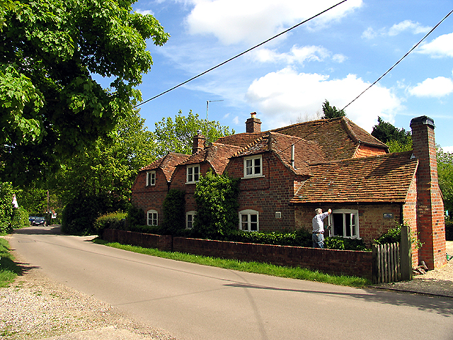 Old  Cottages: Tutts Clump