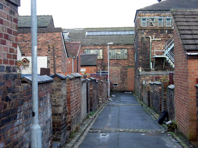 'Back to back' housing in Burslem