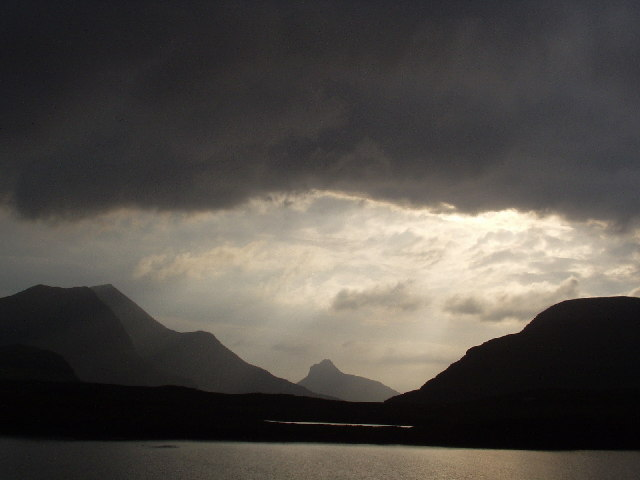 Lochan Fada and the mountains of Sutherland