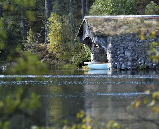 Boathouse at the Loch in Glen Tanar
