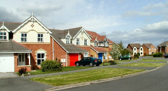 Houses on Sevenlands Drive, Derby