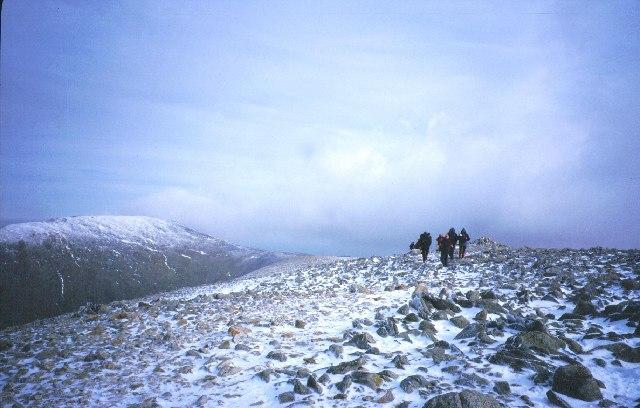 Summit of Carnedd Dafydd.