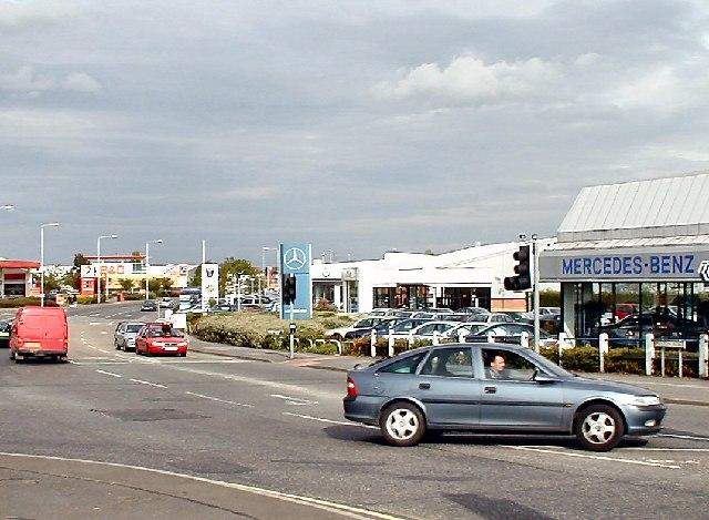 Car showrooms, Belton Road, Loughborough