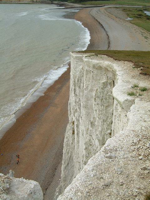 Cliffs above Cuckmere Haven
