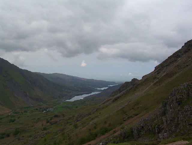 Looking NE down Llanberis Pass