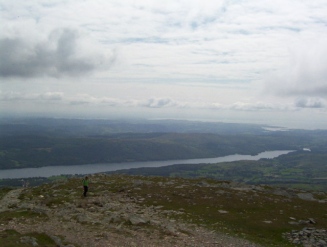 Looking down from the Old Man of Coniston towards Morecambe Bay
