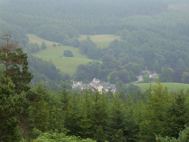 View of Grizedale Visitor Centre from Carron Crag