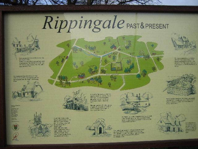 Rippingale village - map and historical information