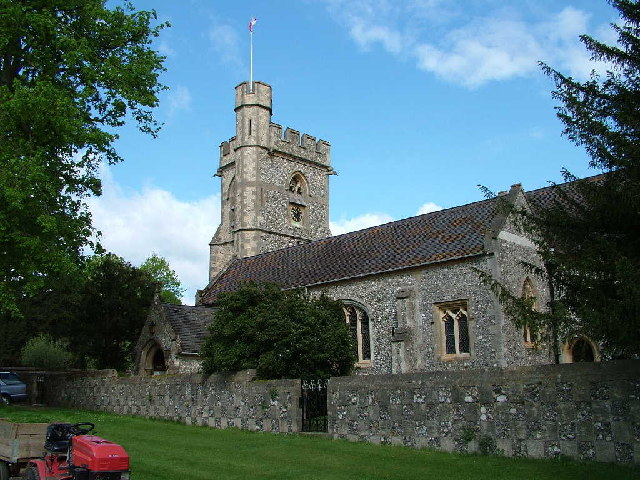 St.Michael Church in Chenies from the east