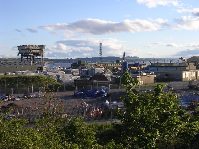 Port facilities at Stannergate, Dundee