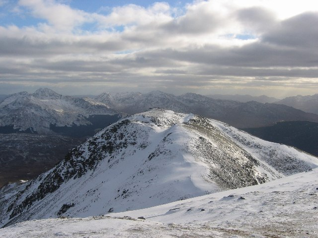 Summit ridge of Beinn Chaluim