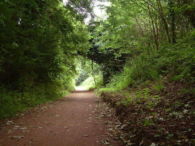Trackbed of Welwyn to Hertford railway line