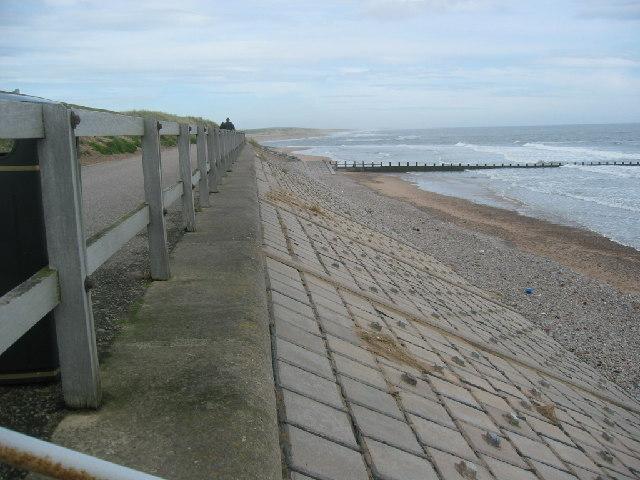 Sea wall, North end of the Beach Boulevard, Aberdeen