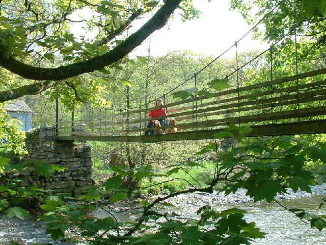 Suspension bridge over River Esk
