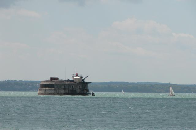 Spitbank Fort in the middle of the Solent
