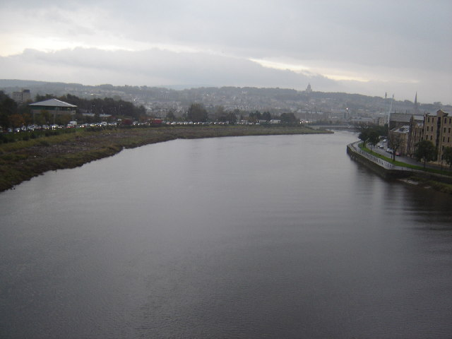 Looking east along the River Lune