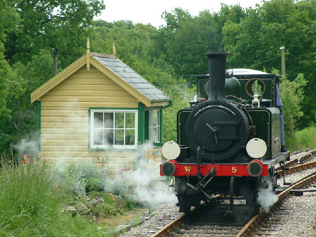 Signalbox at Wootton station