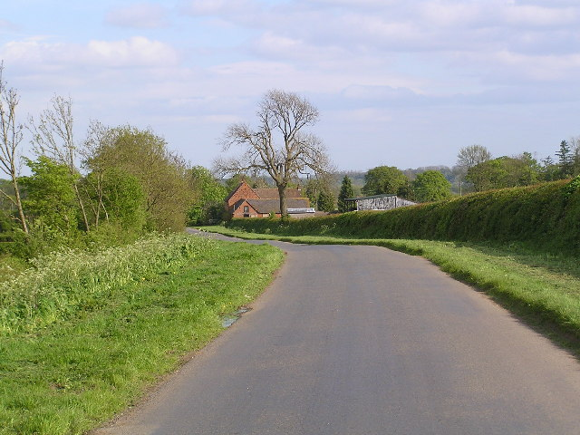 Looking down Woodgate road towards Common Barn Farm
