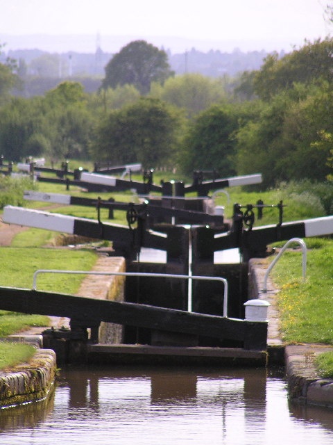 Tardebigge Flight on the Birmingham to Worcester canal