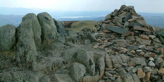 Summit cairn on Lingmoor Fell