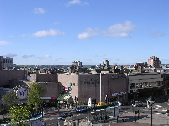 Rooftops of Dundee's city centre