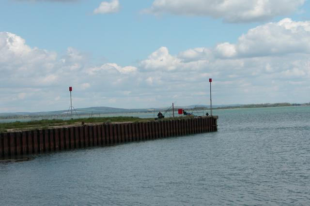Fishing from Great Salterns Quay