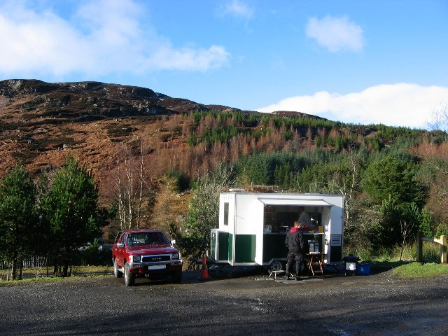 Tea shack, Glen Ogle.