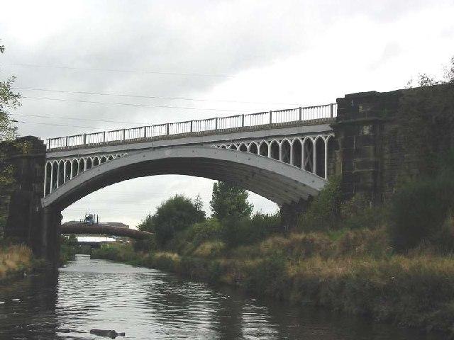 Railway bridge across canal