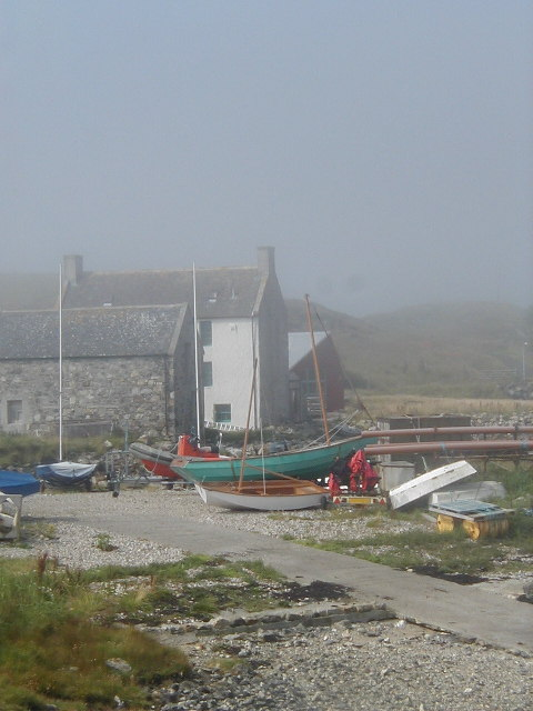 Boats & Boathouse, Lochmaddy, North Uist