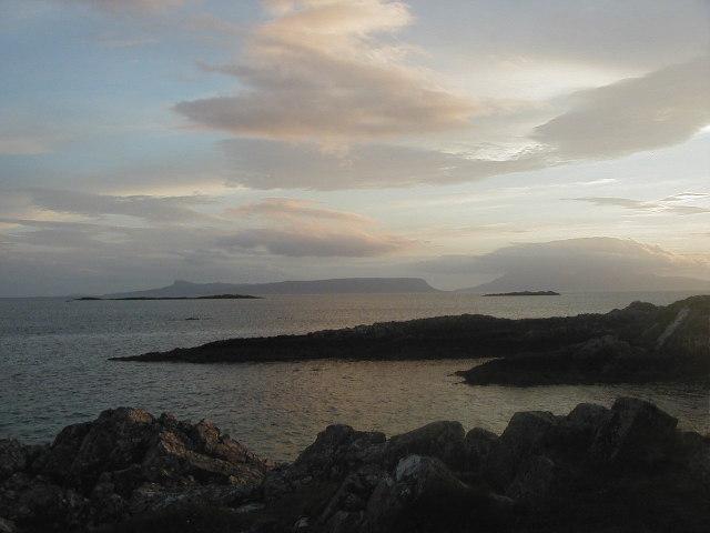 Eigg at sunset