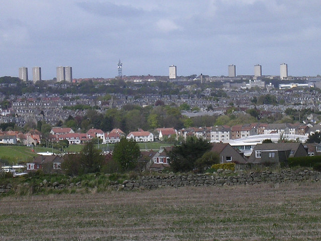 Aberdeen skyline from the south